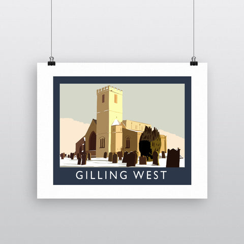 Gilling West, Yorkshire Fine Art Print