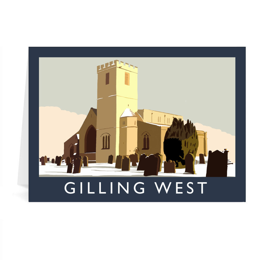 Gilling West, Yorkshire Greeting Card 7x5