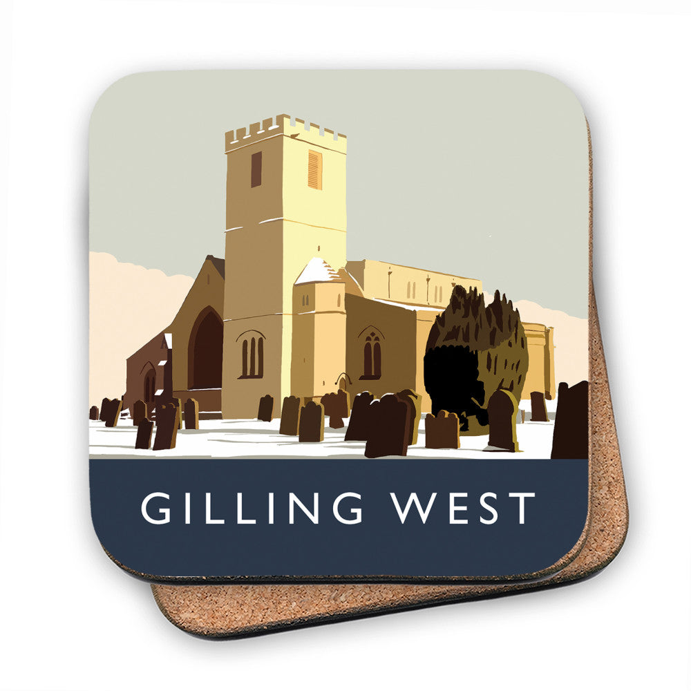 Gilling West, Yorkshire MDF Coaster