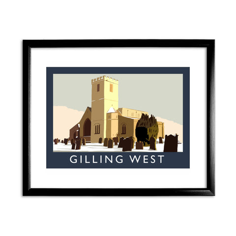 Gilling West, Yorkshire 11x14 Framed Print (Black)