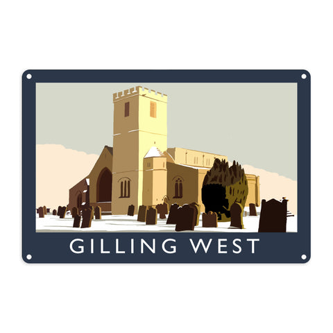 Gilling West, Yorkshire Metal Sign