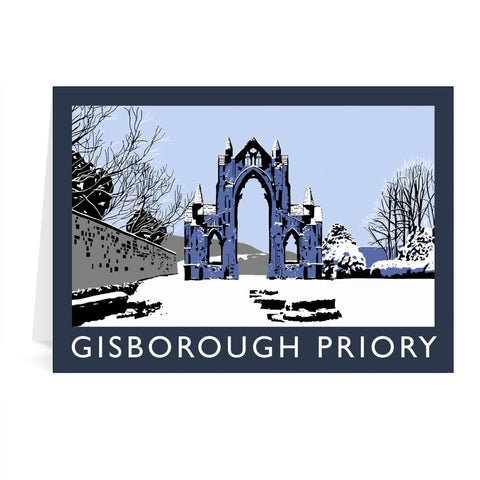 Gisborough Priory, Yorkshire Greeting Card 7x5