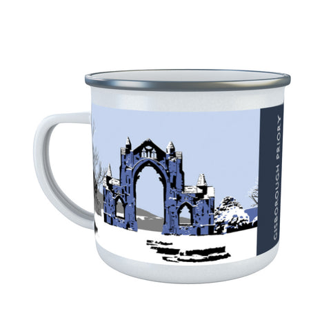 Gisborough Priory, Yorkshire Enamel Mug