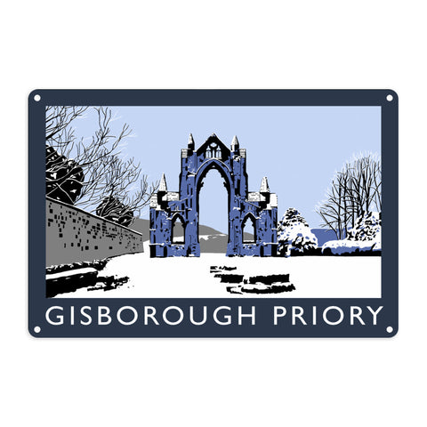 Gisborough Priory, Yorkshire Metal Sign