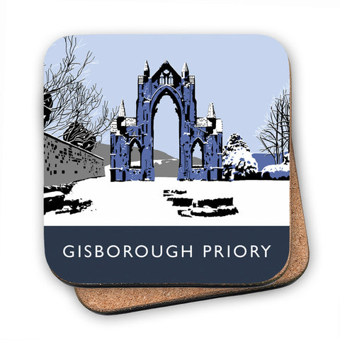Gisborough Priory, Yorkshire MDF Coaster