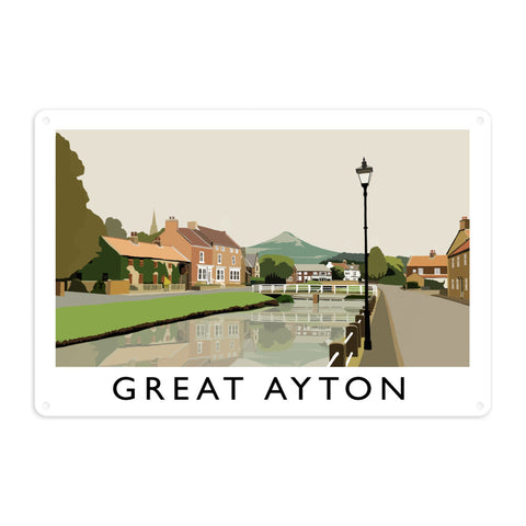 Great Ayton, Yorkshire Metal Sign
