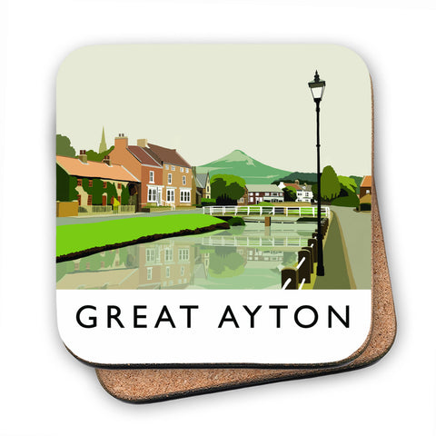 Great Ayton, Yorkshire MDF Coaster
