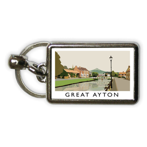 Great Ayton, Yorkshire Metal Keyring