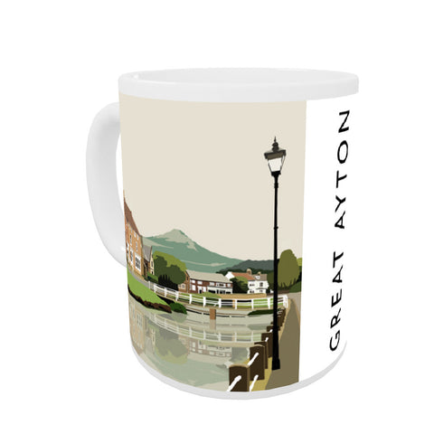 Great Ayton, Yorkshire Coloured Insert Mug
