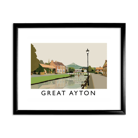 Great Ayton, Yorkshire 11x14 Framed Print (Black)