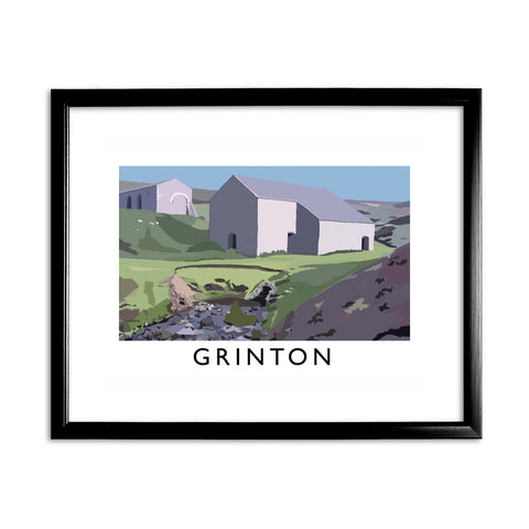 Grinton, Yorkshire 11x14 Framed Print (Black)