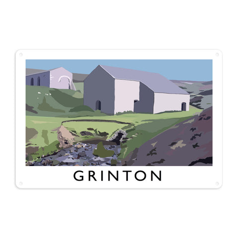 Grinton, Yorkshire Metal Sign