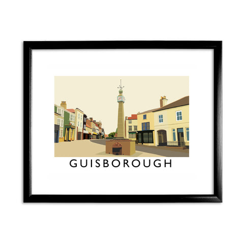 Guisborough, Yorkshire 11x14 Framed Print (Black)