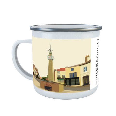 Guisborough, Yorkshire Enamel Mug