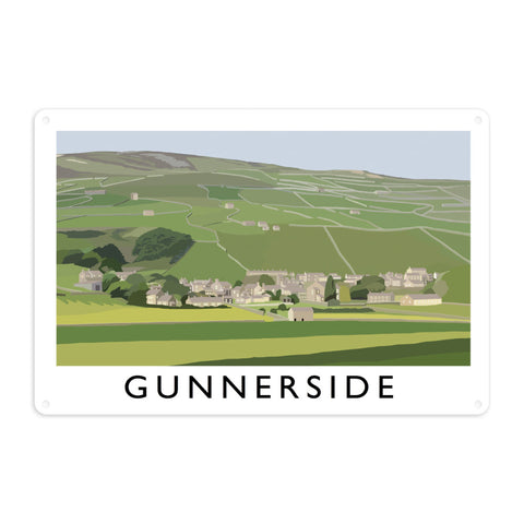 Gunnerside, Yorkshire Metal Sign