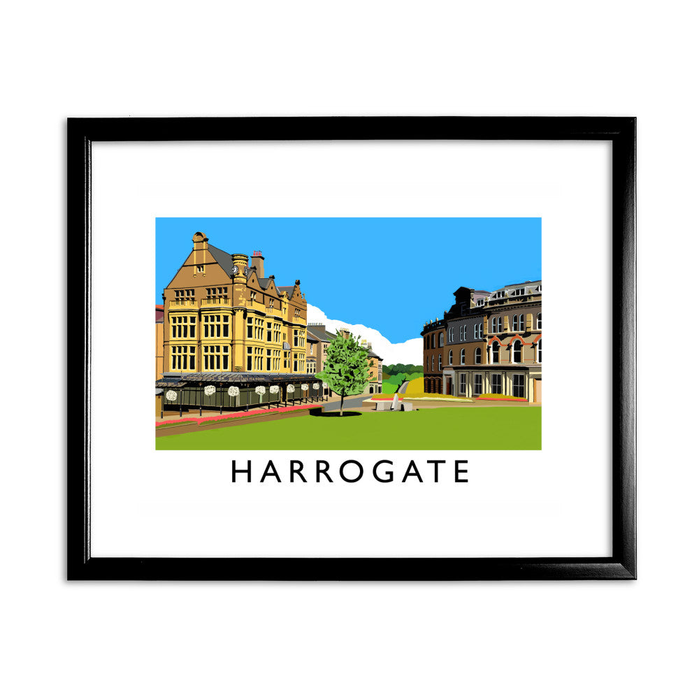 Harrogate, Yorkshire 11x14 Framed Print (Black)