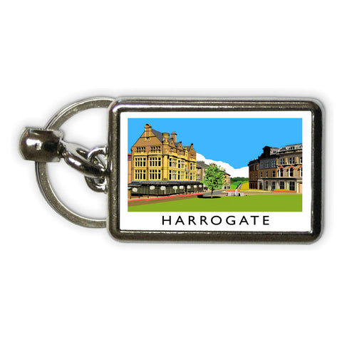 Harrogate, Yorkshire Metal Keyring