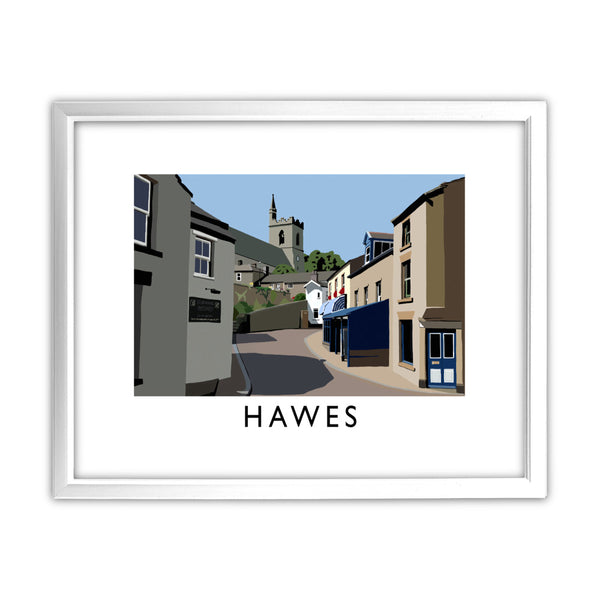 Hawes, Yorkshire 11x14 Framed Print (White)
