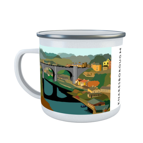Knaresborough, Yorkshire Enamel Mug