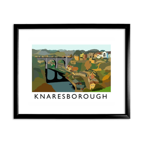 Knaresborough, Yorkshire 11x14 Framed Print (Black)