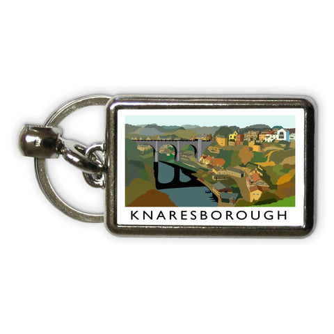 Knaresborough, Yorkshire Metal Keyring