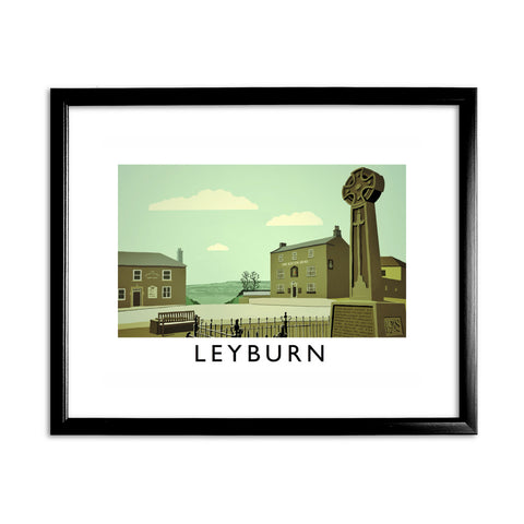 Leyburn, Yorkshire 11x14 Framed Print (Black)