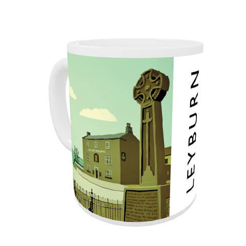 Leyburn, Yorkshire Coloured Insert Mug
