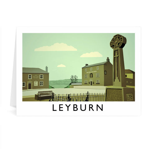 Leyburn, Yorkshire Greeting Card 7x5