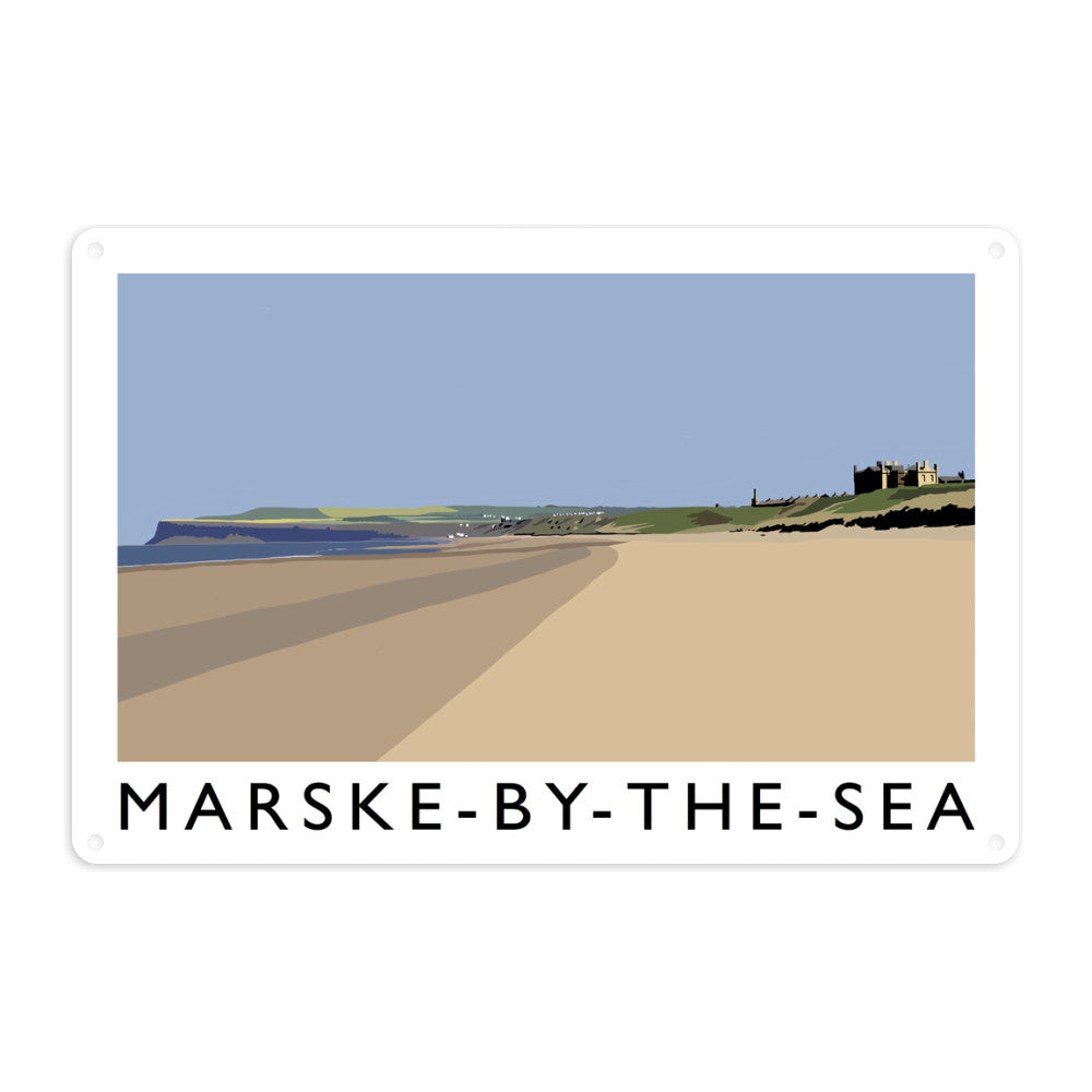 Marske-By-The-Sea, Yorkshire Metal Sign