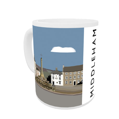 Middleham, Yorkshire Coloured Insert Mug
