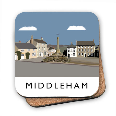 Middleham, Yorkshire MDF Coaster