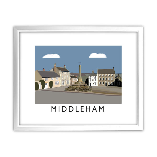 Middleham, Yorkshire 11x14 Framed Print (White)