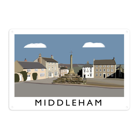 Middleham, Yorkshire Metal Sign