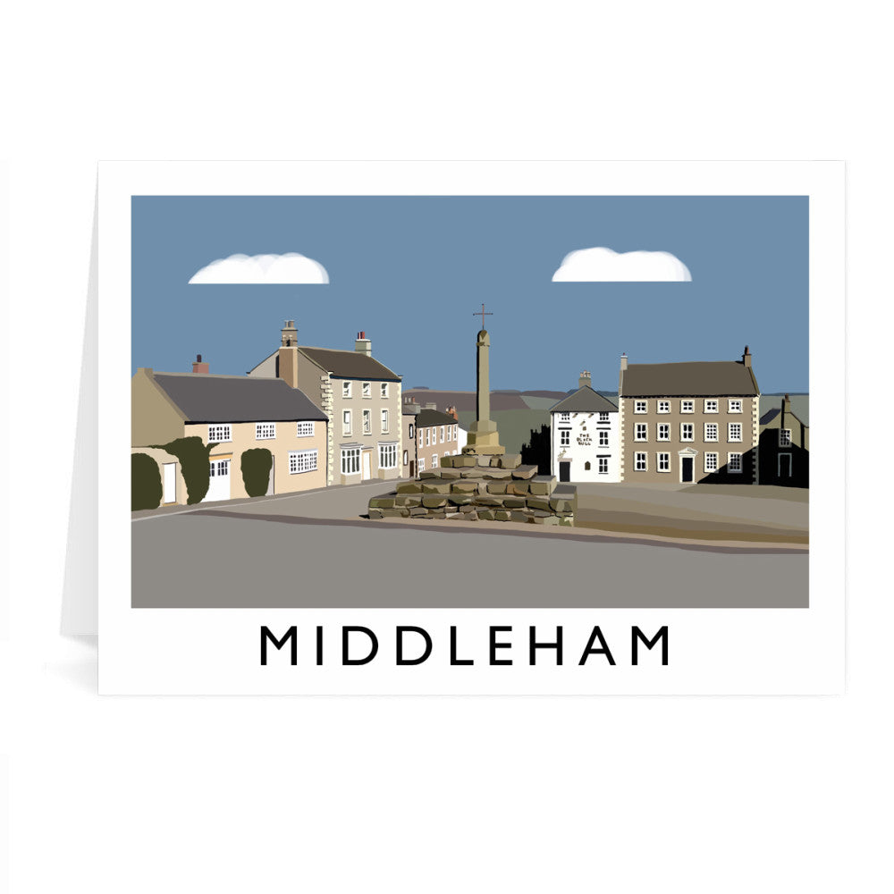 Middleham, Yorkshire Greeting Card 7x5