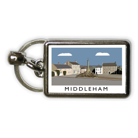 Middleham, Yorkshire Metal Keyring