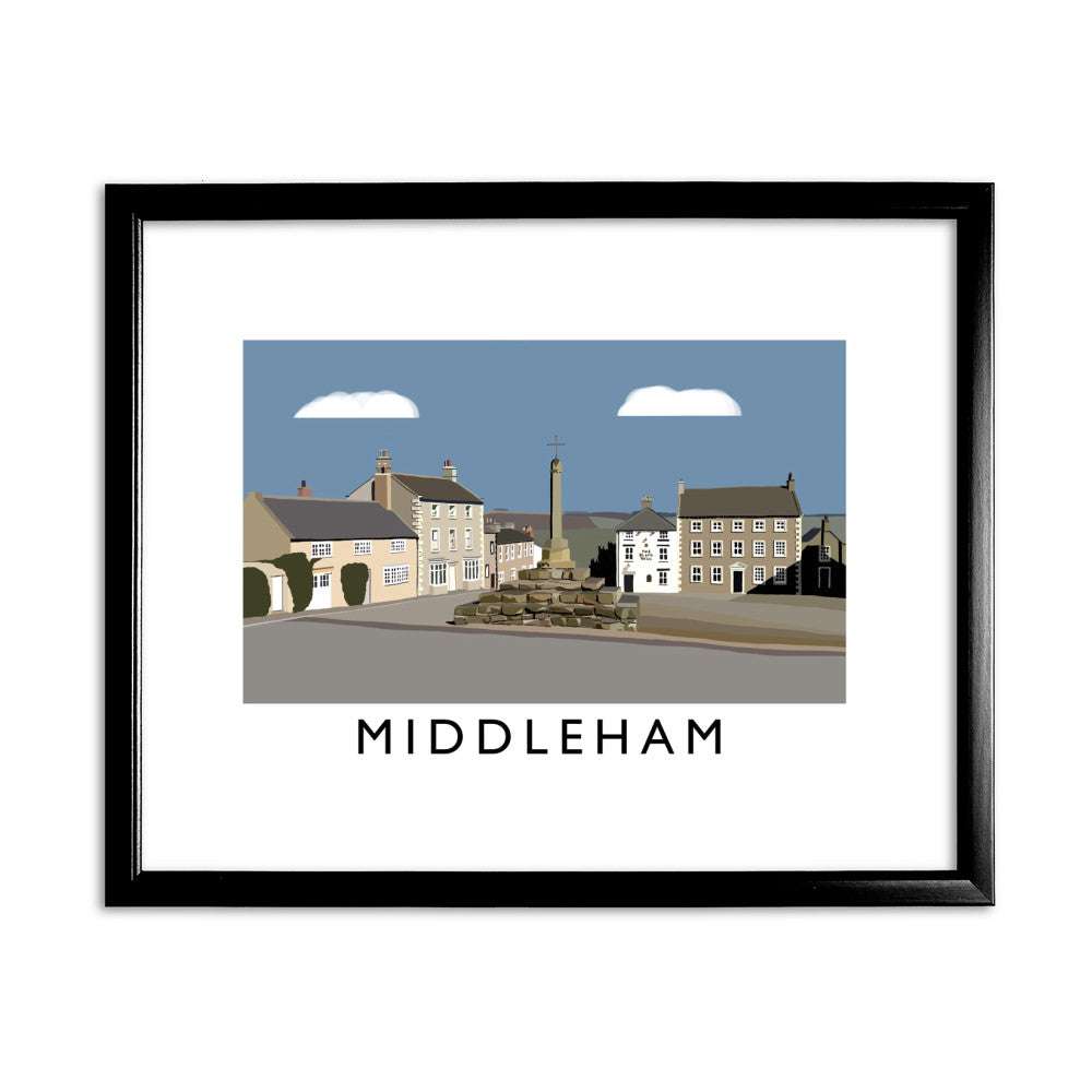 Middleham, Yorkshire 11x14 Framed Print (Black)