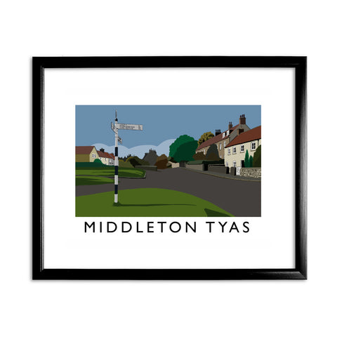 Middleton Tyas, Yorkshire 11x14 Framed Print (Black)