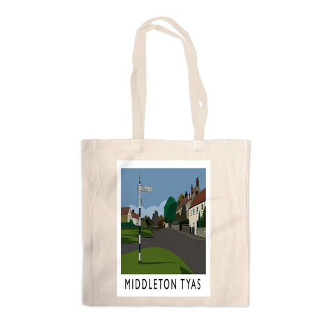 Middleton Tyas, Yorkshire Canvas Tote Bag