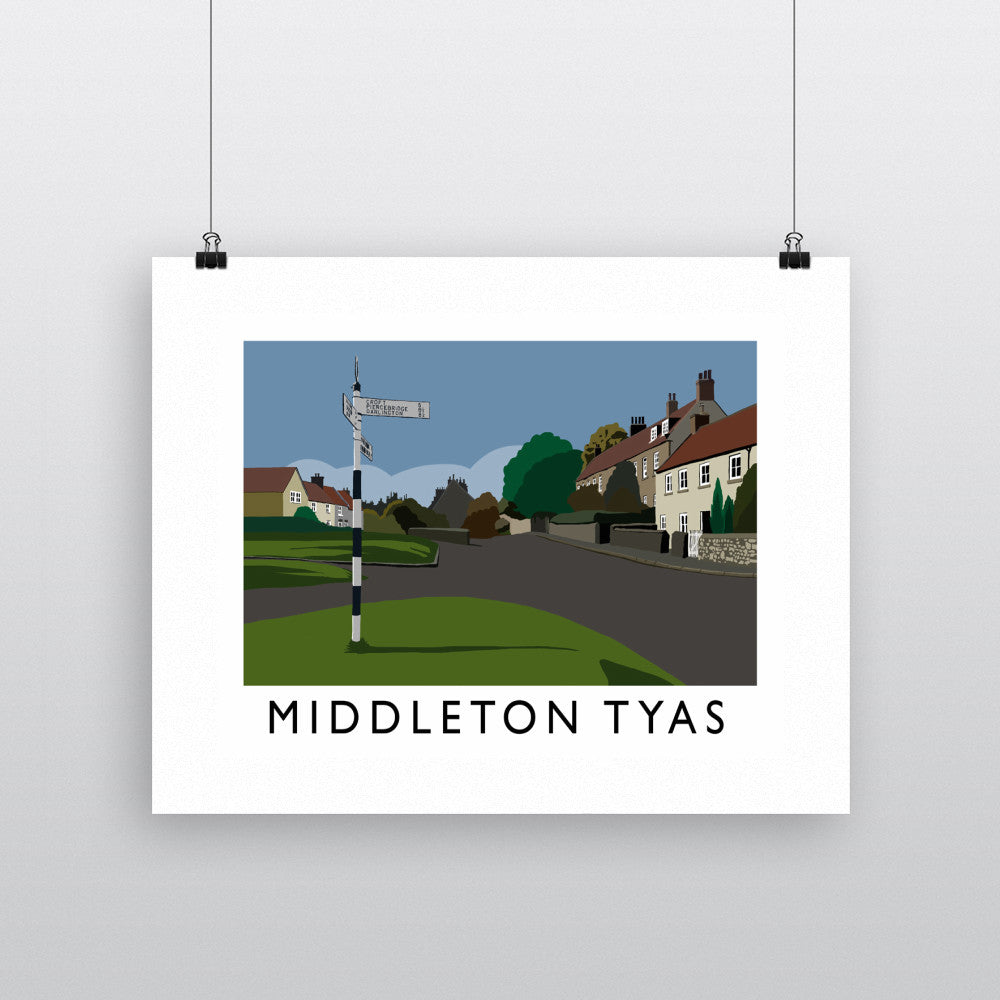 Middleton Tyas, Yorkshire Fine Art Print