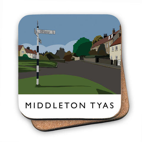 Middleton Tyas, Yorkshire MDF Coaster