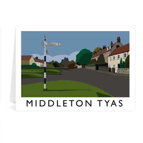 Middleton Tyas, Yorkshire Greeting Card 7x5