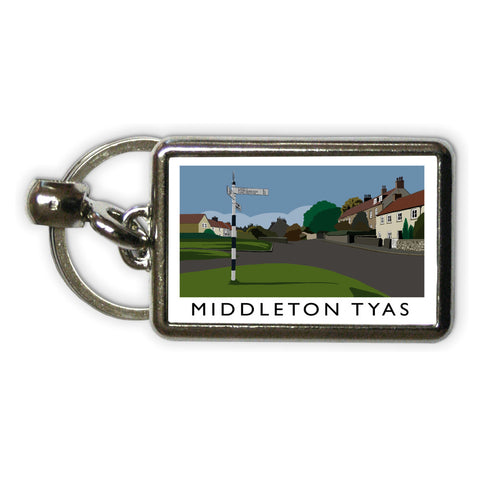 Middleton Tyas, Yorkshire Metal Keyring