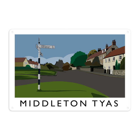 Middleton Tyas, Yorkshire Metal Sign