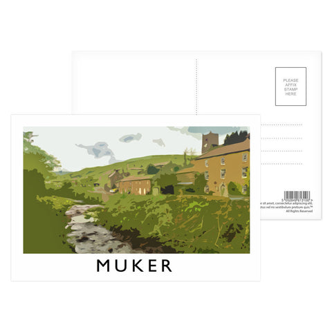 Muker, Yorkshire Postcard Pack