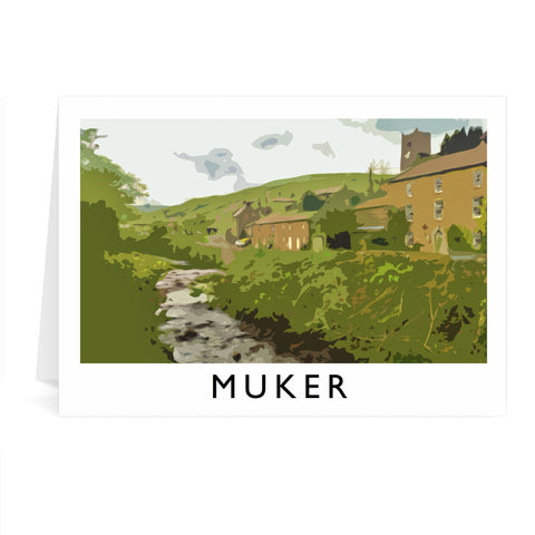 Muker, Yorkshire Greeting Card 7x5