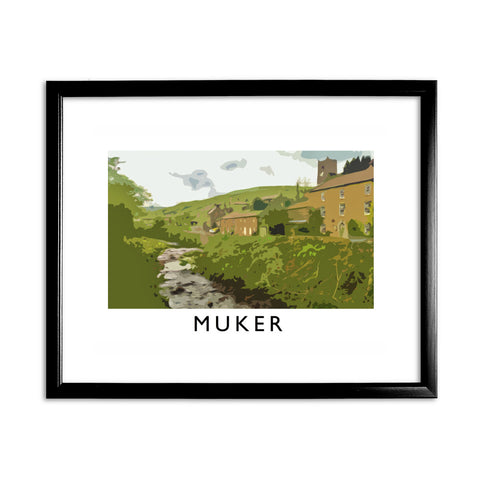 Muker, Yorkshire 11x14 Framed Print (Black)