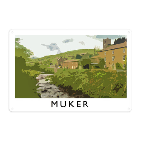 Muker, Yorkshire Metal Sign