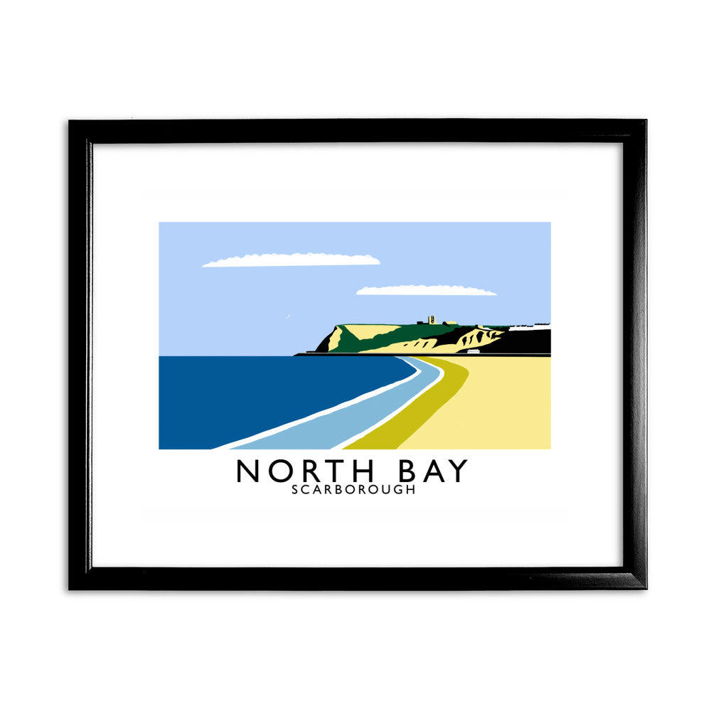 Scarborough, Yorkshire 11x14 Framed Print (Black)
