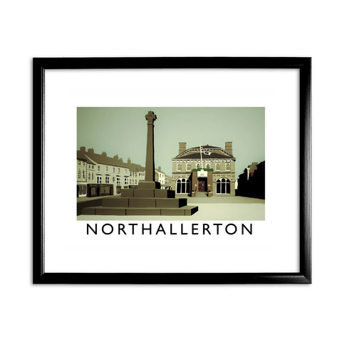 Northallerton, Yorkshire 11x14 Framed Print (Black)