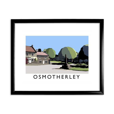 Osmotherley, Yorkshire 11x14 Framed Print (Black)